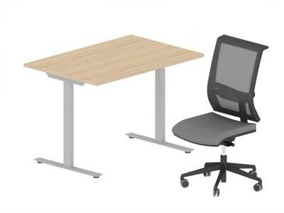 Hjemmekontor Pakke - Active Skrivebord med fast stativ og Active II kontorstol
