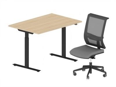 Hjemmekontor Pakke - Active hev\senk skrivebord og Active II kontorstol