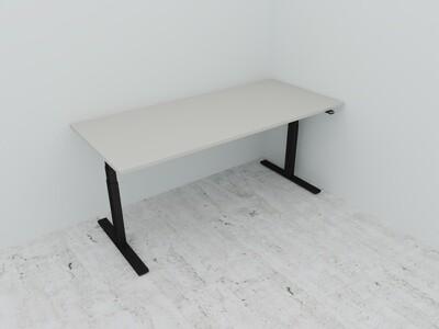 Active hev\senk skrivebord EIK-GRÅ-HVIT Laminat