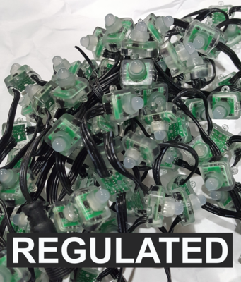 BULK 3000 OR MORE PIXELS  - 12V / WS2811 / REGULATED / SQUARE Pixels / 100 count Strings / 18 Gauge WIRE /  4 Inch Spacing /  Shipped Direct by Boat - 4 to 8 weeks for delivery