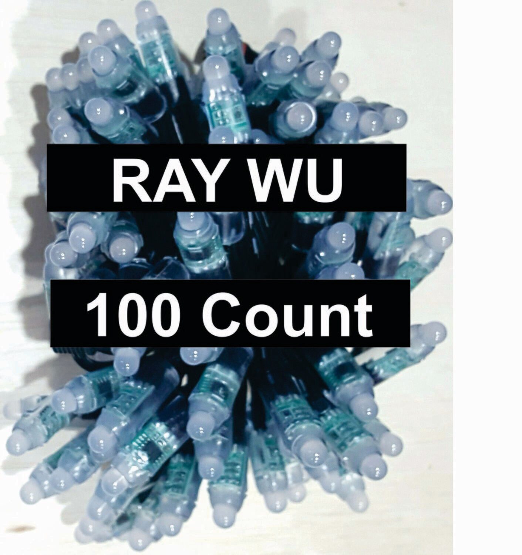 12V / WS2811 / Bullet Pixels /  100 count Strings / 18Gauge  BLACK WIRE /  13.5 (Ray Wu) Ends