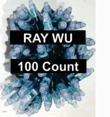 12V / WS2811 / Bullet Pixels /  100 count Strings / 18Gauge  BLACK WIRE /  Ray Wu Ends