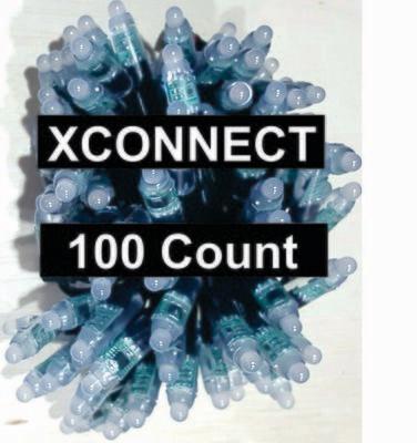 12V / WS2811 / Bullet Pixels /  100 count Strings / 18Gauge  BLACK WIRE /  XCONNECT Ends