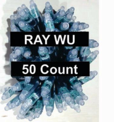 12V / WS2811 /  Bullet Pixels /  50 count Strings / 18 Gauge BLACK Wire / RAY Wu Ends
