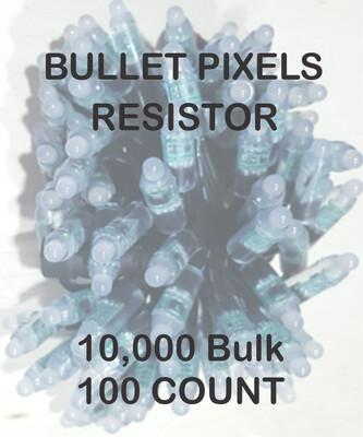 BULK 10,000 OR MORE PIXELS - 12V / WS2811 / Resistor / Bullet Pixels / 100 count Strings /  Shipped Direct by Boat   8 - 12 Weeks for delivery