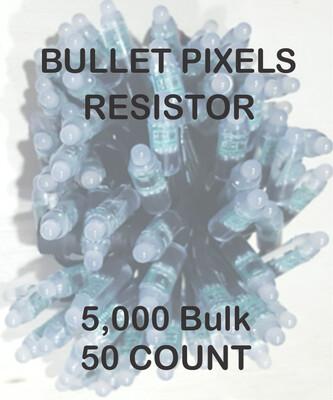 BULK 3000 OR MORE PIXELS - 12V / WS2811 / Resistor / Bullet Pixels / 50 count Strings - Shipped Direct by Boat 6 - 12 Weeks for delivery