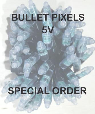 5V WS2811 Bullet Pixels - SPECIAL ORDER - 4 to 8 weeks for delivery
