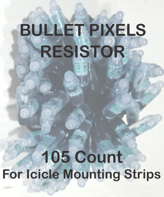 12V WS2811 Pixels 105 Count 15 groups of inline pixels for Icicle Mounting Strips - SPECIAL ORDER - UP to 8 weeks for Delivery
