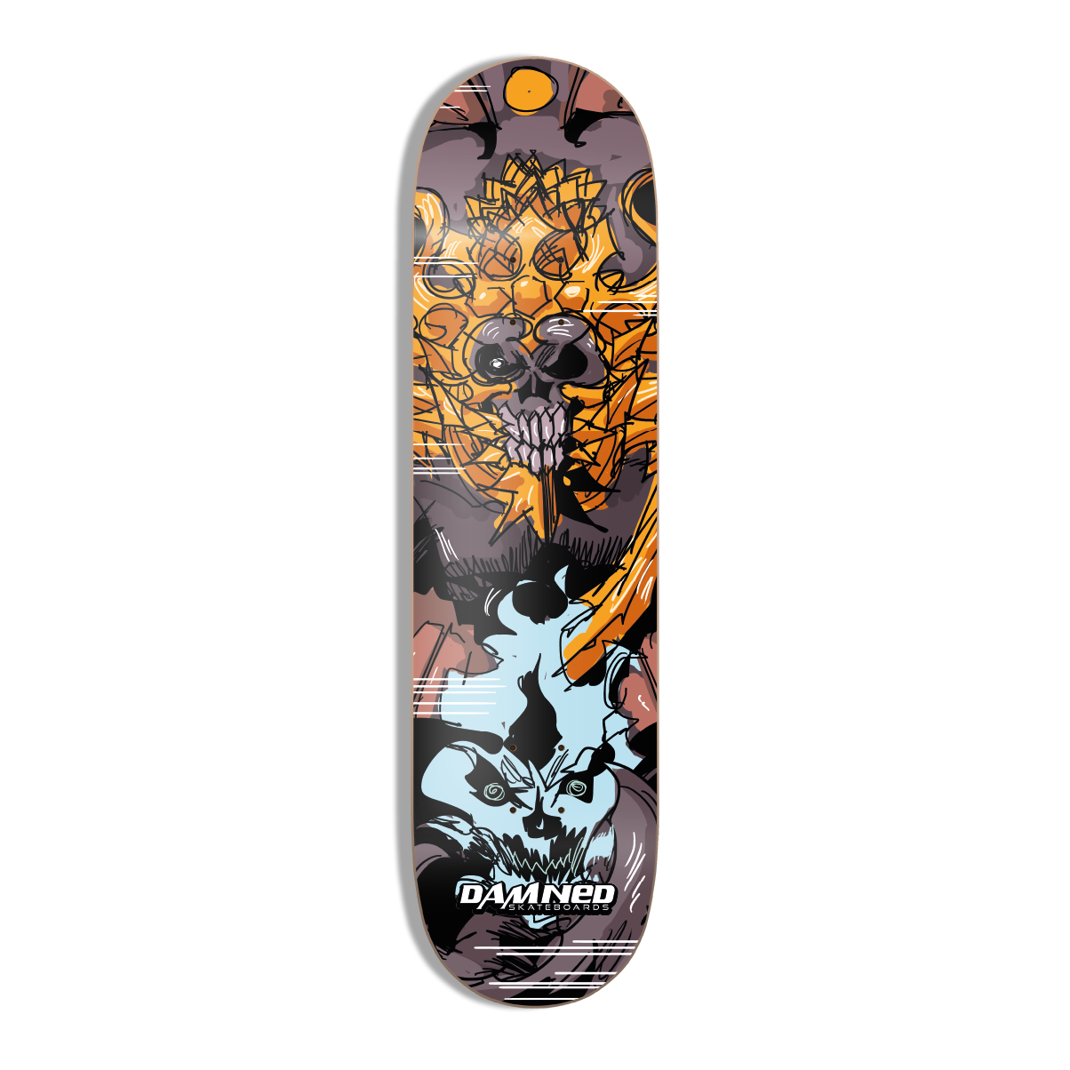 DS DRACO UMBRA HIGH Concave Deck inkl. Griptape