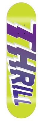 "THRILL Logo Deck Yellow 8.0"" inkl. Griptape"