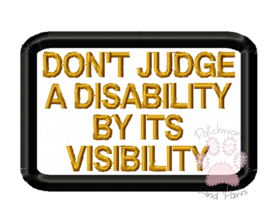 Don't Judge A Disability
