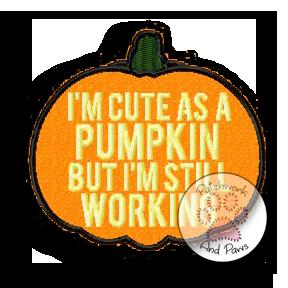 Cute As A Pumpkin
