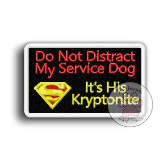 Don't Distract Service Dog - Kryptonite