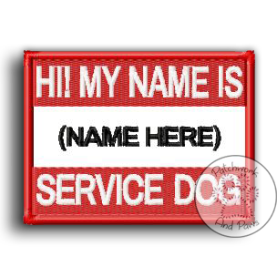 Service Dog Name Tag