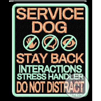 Service Dog Stay Back - Large