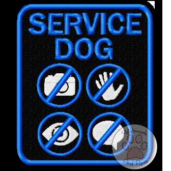 Service Dog - Symbols Large