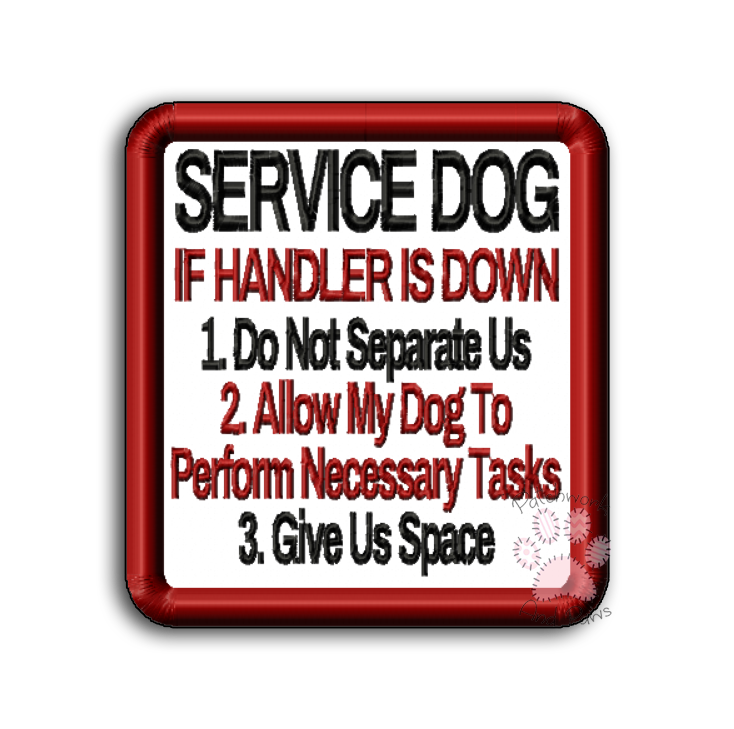 Service Dog - If Handler Is Down