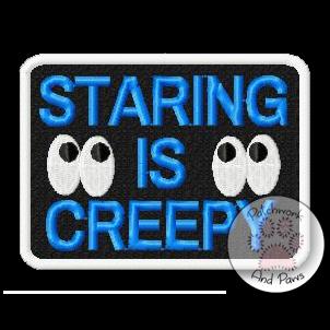 Staring Is Creepy