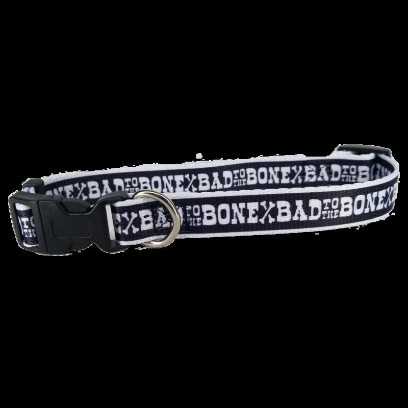 Adjustable Bad to the Bone Dog Collar