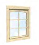 Fenêtre simple 66x89cm, pour abris 34 mm, Garden
