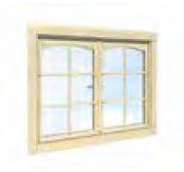 Fenêtre double 44mm 117x87cm