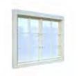 Fenêtre double 40mm 119x89cm