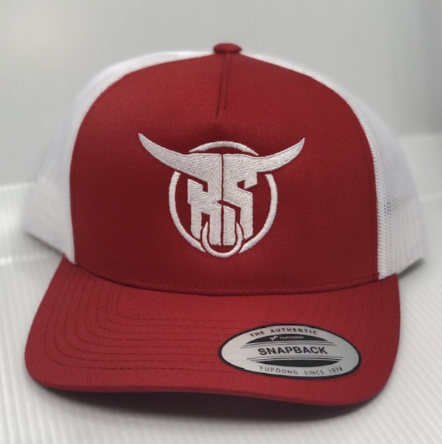 Red BS Snapback Hat