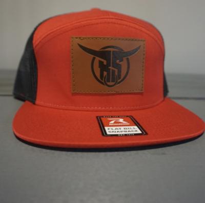 Red 7 Panel Hat
