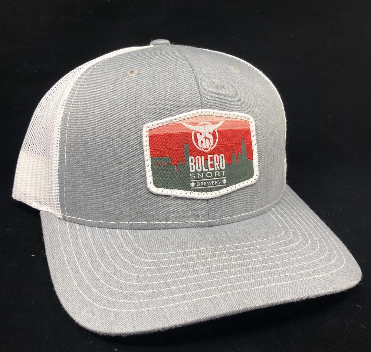 Grey Trucker Skyline Hat