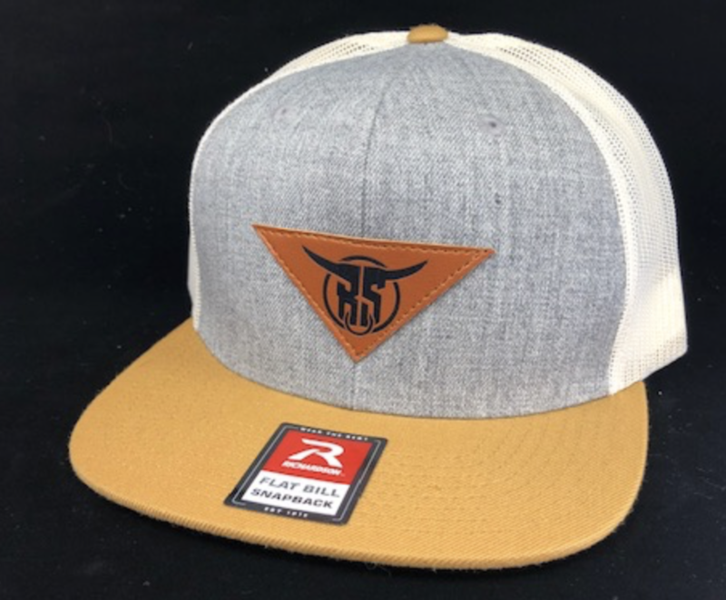 Tri-Color Leather Patch Snapback