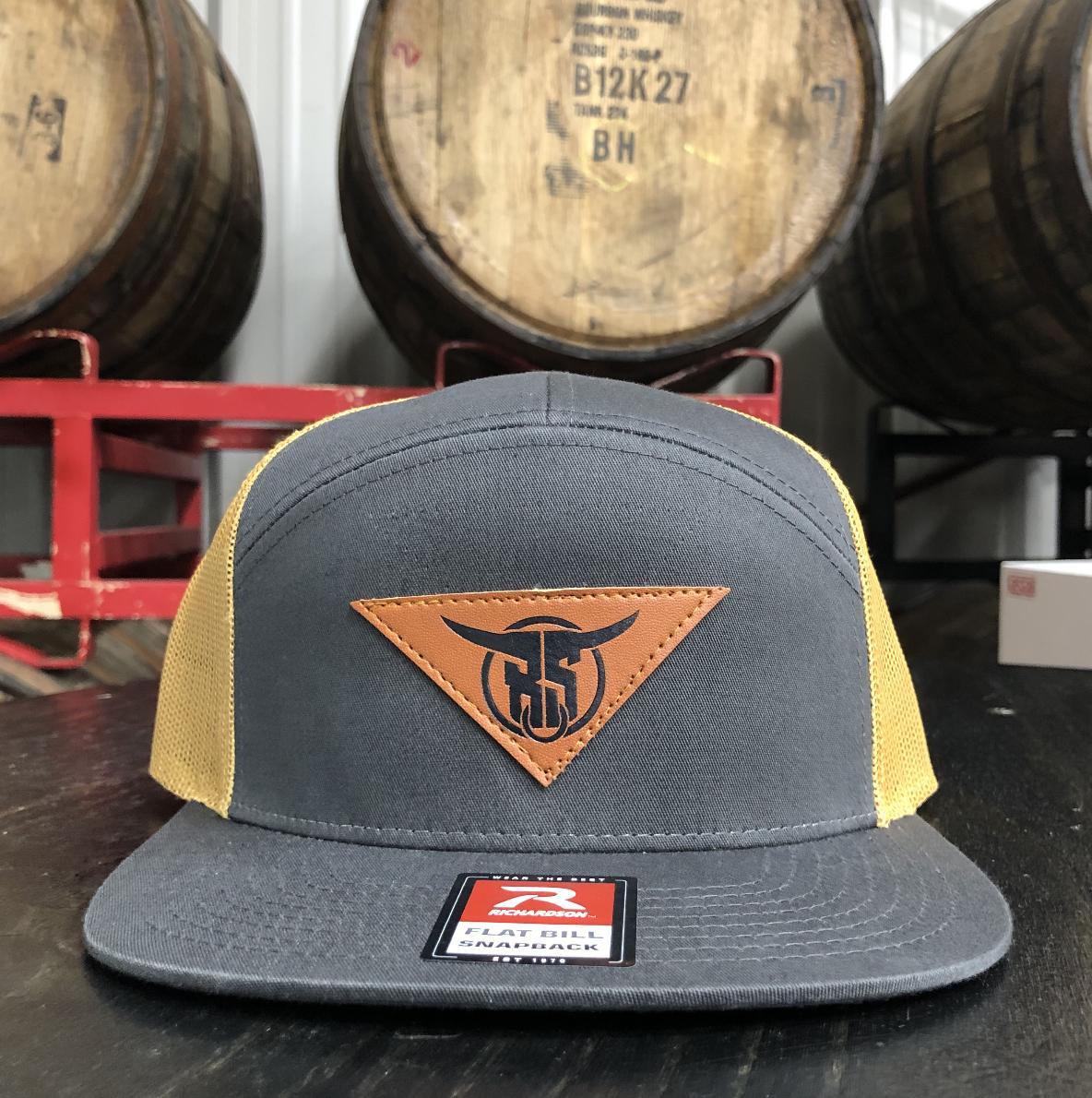 Grey 7 Panel Hat