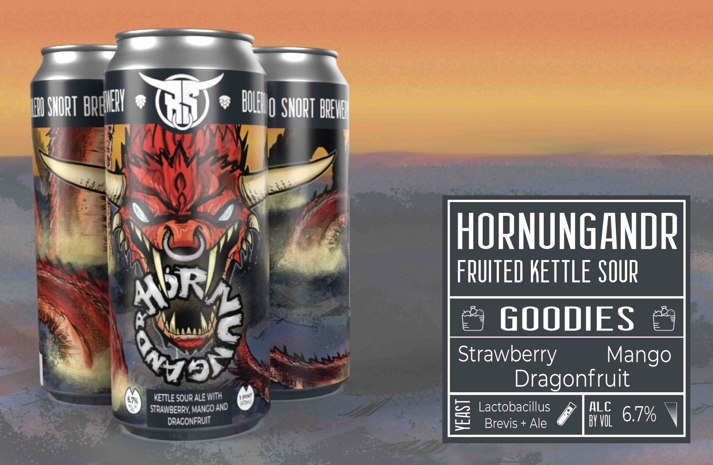 Hornungandr Strawberry/Mango/Dragonfruit 4pk