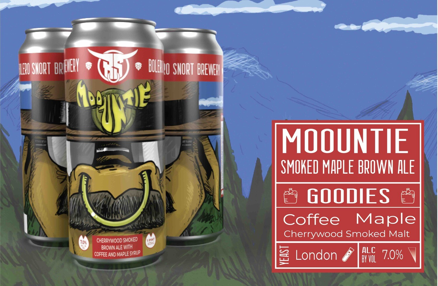 Moountie Smoked Maple Brown 4pk
