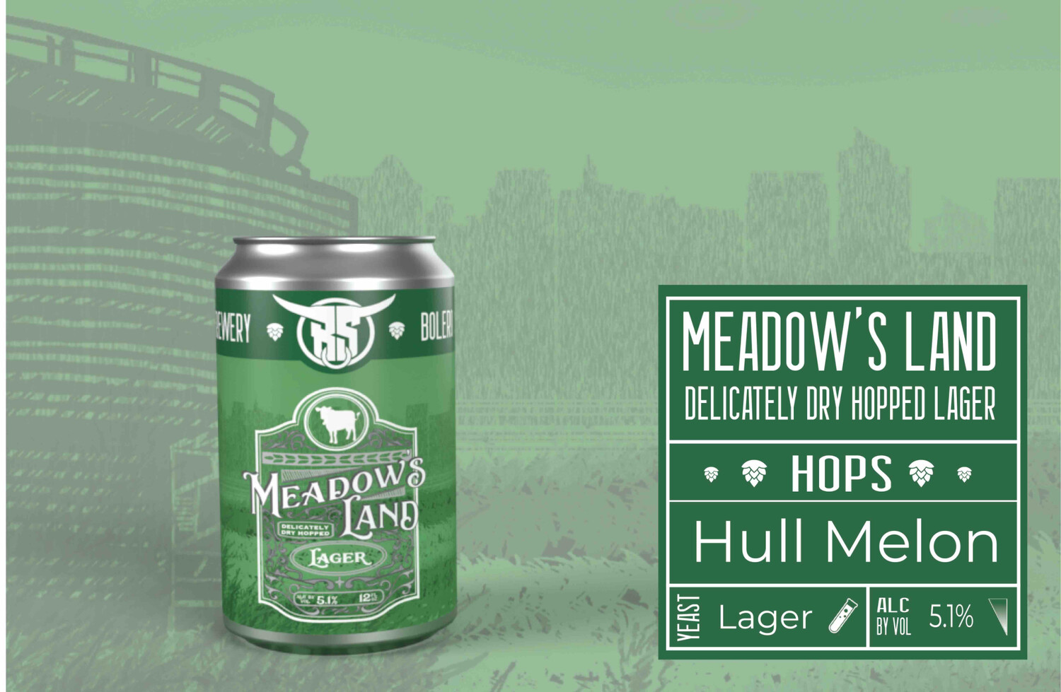 Meadows Land Lager Case (24 12oz Cans)