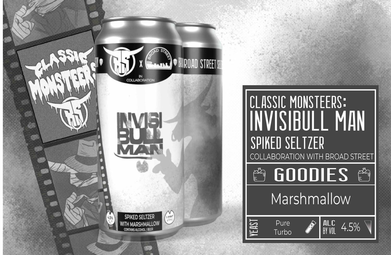 Monsteers: Invisibull Man Seltzer 4pk
