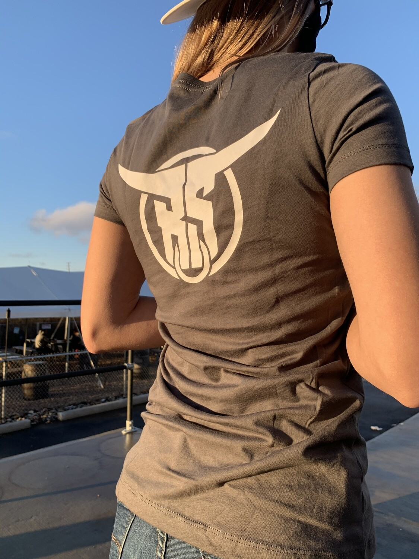 Women's Grey Logo Tee Large
