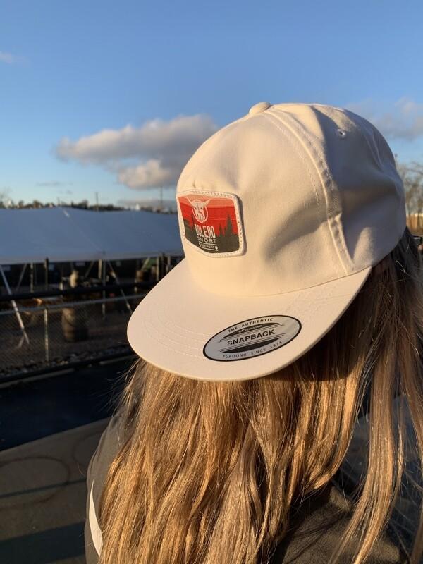 White Snapback Skyline Hat