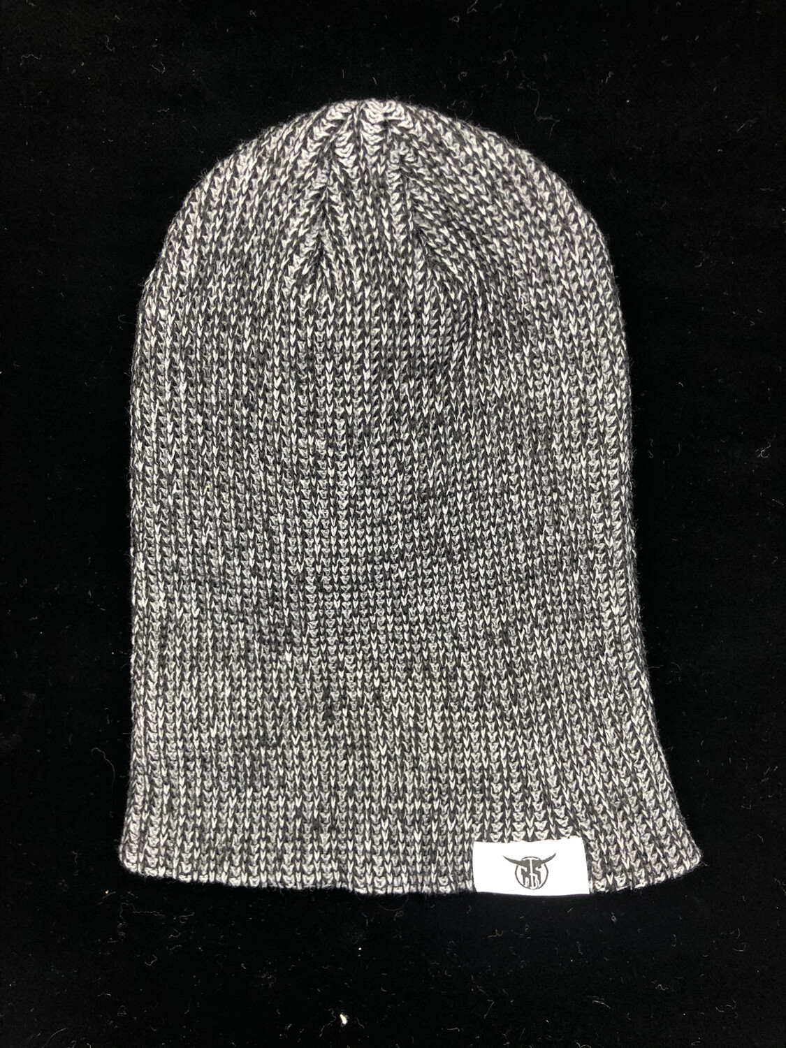 Charcoal Hang Tag Slouch Beanie