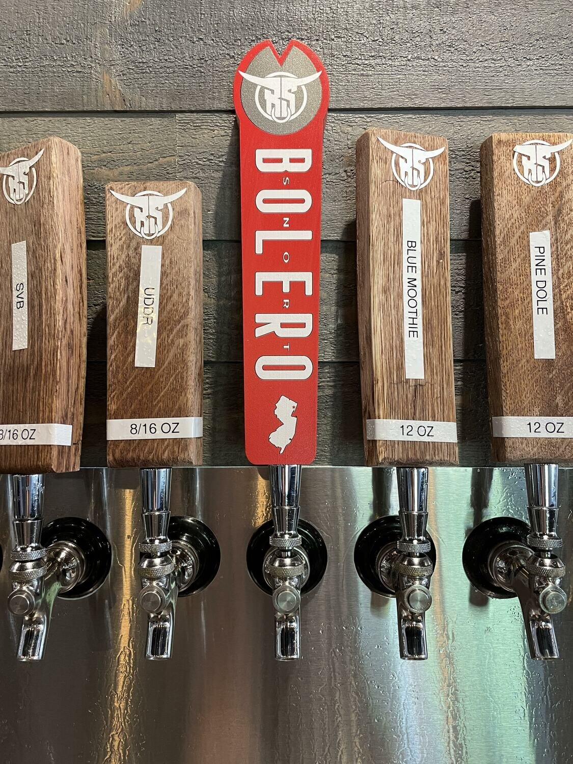 New Red Bs Tap Handle