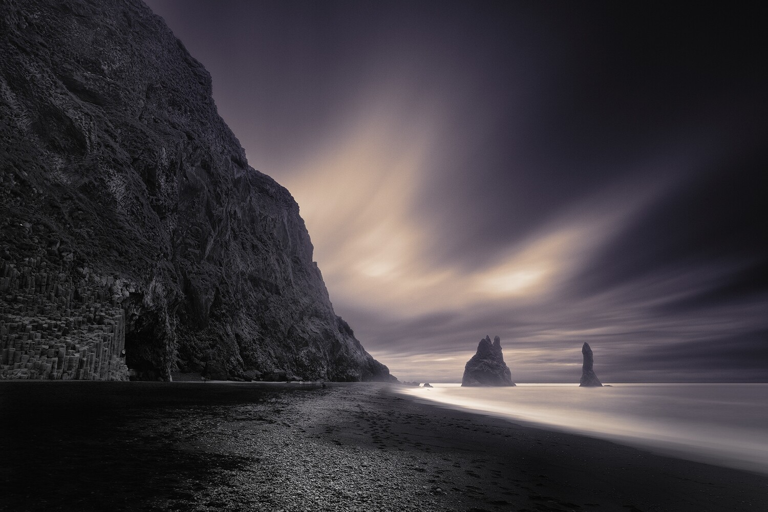 Reynisfjara Beach - Purple Haze