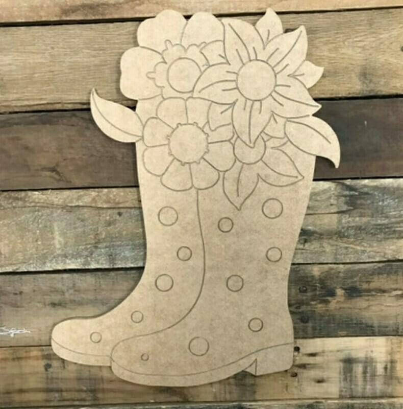 Paint by Line Rain Boots 10