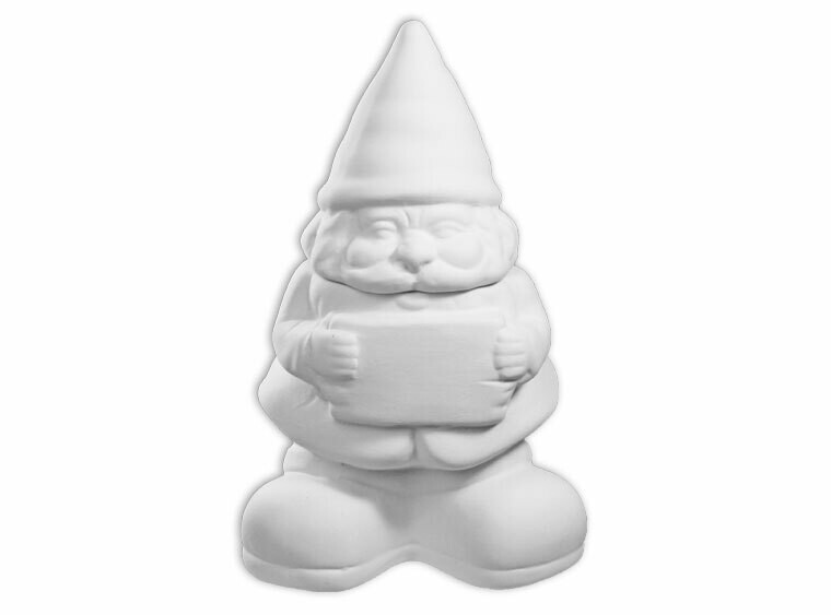 Gnome Jar with Sign
