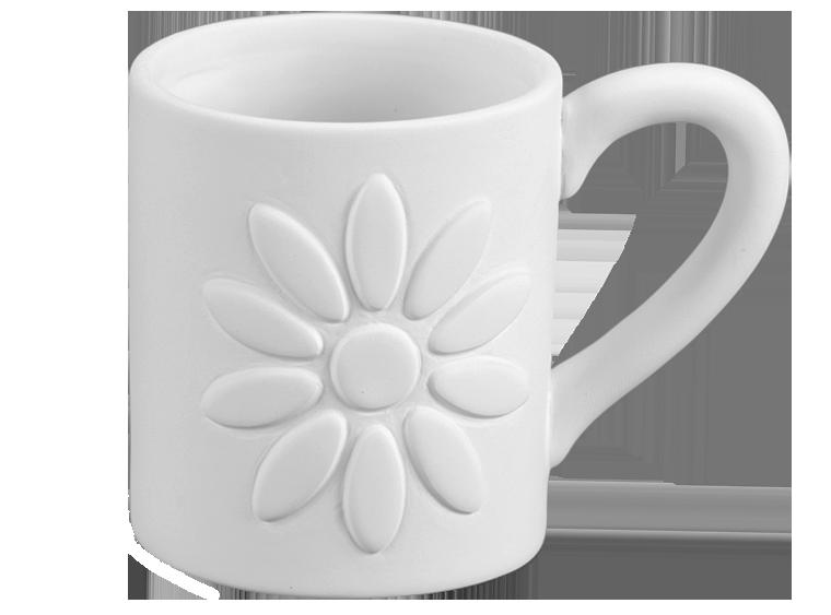 Ten Petal Flower Mug