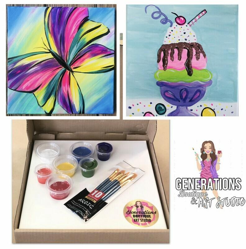 Paint Kit Butterfly and Ice Cream Sundae