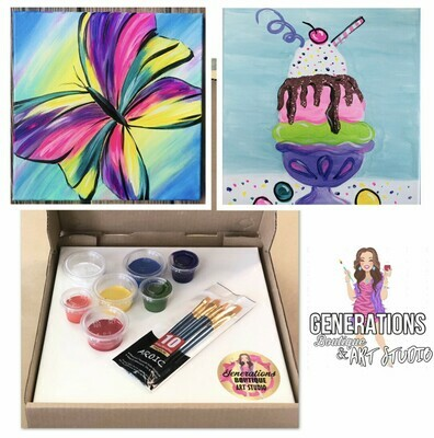 Paint Kit Butterfly and Ice Cream Sundae