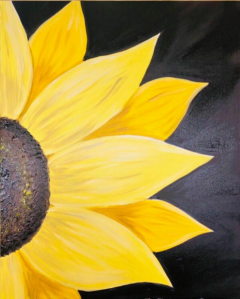 Sunflower IN STUDIO Paint and Sip