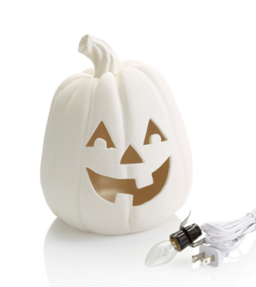 Large Lighted Pumpkin with Light Kit 8