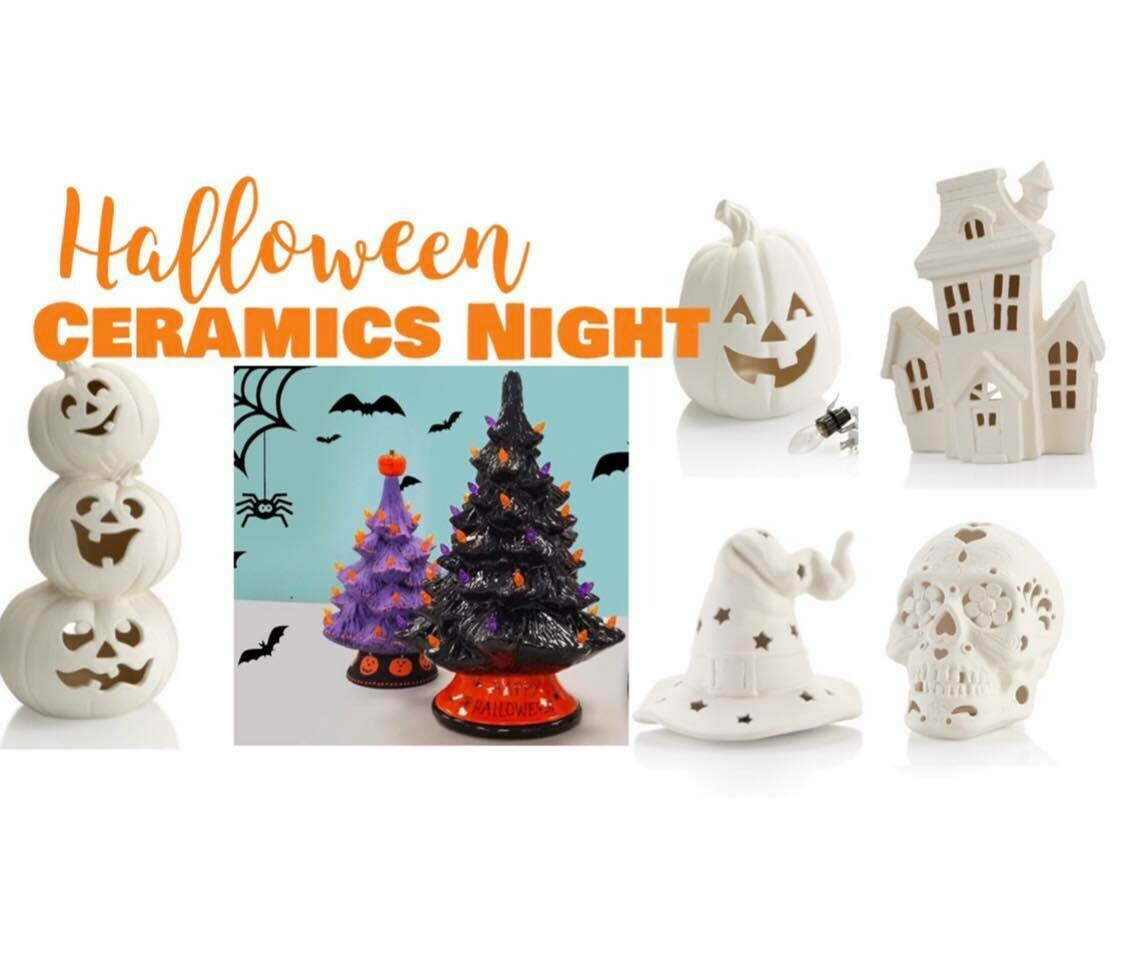 Halloween Ceramics Paint Night September 11th 5-7pm