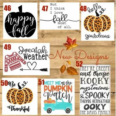 FALL Wood Sign Paint and Sip with Zoom Option