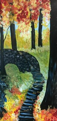 Fall Path IN STUDIO OR ZOOM Paint and Sip Class